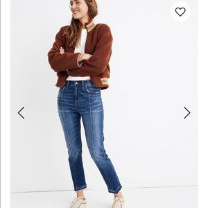 Madewell High rise Seamed Slim Boyfriend jeans